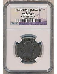 1803 P Large Cent Cent VG Details NGC