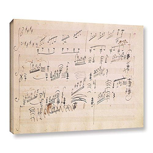 Moonlight Music Sonata Sheets (ArtWall Edgar Degas's Score Sheet of 'Moonlight Sonata' Gallery-Wrapped Canvas, 36 x 48)