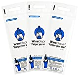 Wine Diaper - The Original Reusable, Protective  and Absorbent Bottle Bags - Set of 3 - Made in the USA