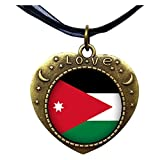 GiftJewelryShop Bronze Retro Style Jordan flag Heart Lover Moom Star Pendant Charm Necklaces