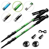trek carbon - High Trek Premium Ultralight Trekking Poles w/Sweat Absorbing EVA Grips - Your collapsible Hiking/Walking Sticks come with Tungsten Tips and Flip Locks - Enjoy the Outdoors