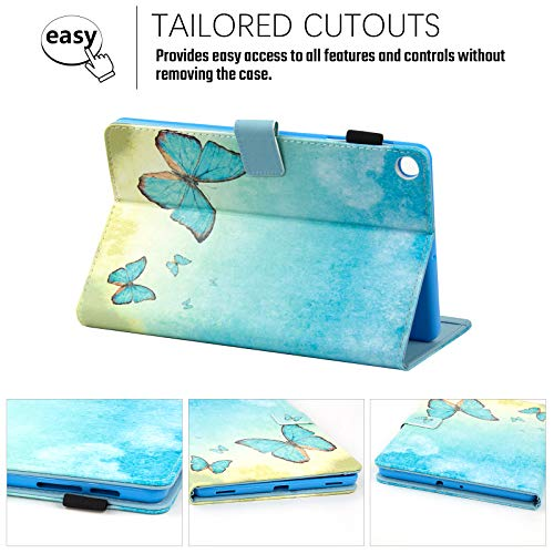 "Dteck for Samsung Galaxy Tab A 10.1 Case 2019, Premium Shock Proof Stand Folio Case, Multi- Viewing Angles, Soft TPU Back Cover for Samsung Tab A 10.1"" Tablet SM-T510/T515, Watercolor Butterfly"