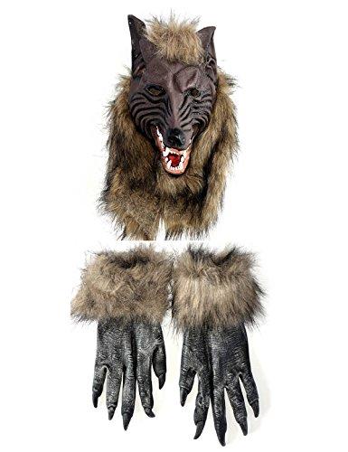 Cosplay Party Mask Werewolf Skull Halloween Wolf Head (Halloween Word Scramble For Adults)