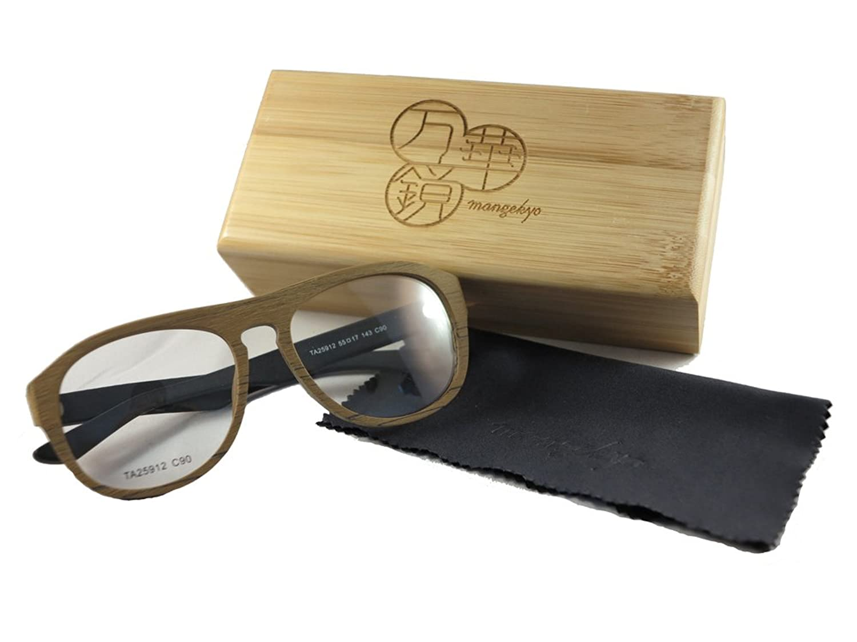 Mangekyo Vintage Wooden Glasses Frame Large Round