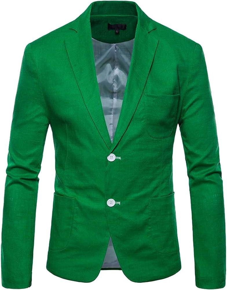 Hombres Chaqueta de Traje Encanto Casual Colores Dulces Color Sólido Apto Traje Blazer Chaqueta de Abrigo Tops 9 Colores