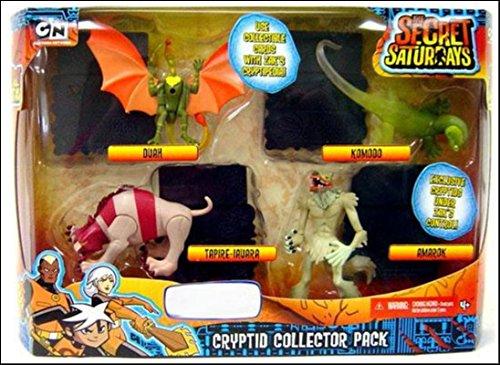 The Secret Saturdays Exclusive Collector Pack Cryptid (Duah, Komodo, Tapire-Iauara and Amarok)