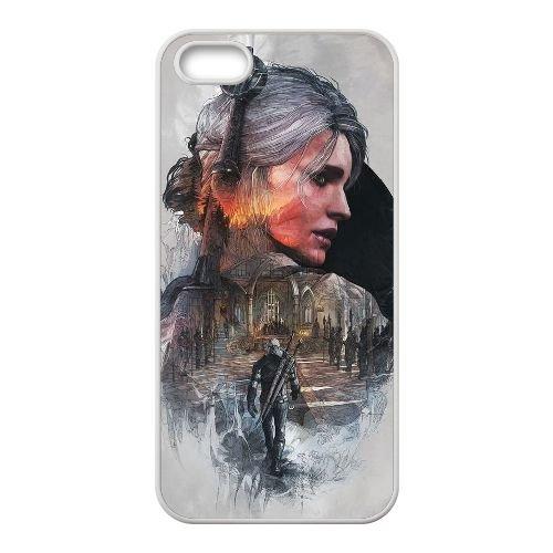 H5C44 The Witcher sauvage Hunt H8N8HE coque iPhone 5 5s cellule de cas de téléphone couvercle coque blanche XC3HXF1HJ