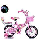LI HAO SHOP Children bicycle baby stroller children mountain bike (flash wheel version) (Color : Pink, Size : 18 in)