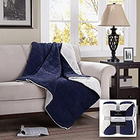 Madison Park Jackson Luxury Down Alternative Throw Ivory 50x60    Premium Soft Cozy Ultra Soft Corduroy For Bed Couch or Sofa