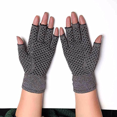 COLO Arthritis Gloves Compression Gloves for Rheumatoid & Osteoarthritis - Men & Women Hand Gloves Provide Arthritic Joint Pain Symptom Relief - Open Finger (S) by COLO (Image #2)