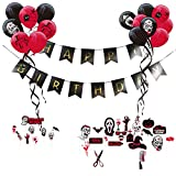 zombie supplies - Zombie Party Theme Happy Birthday Decoration Kit Latex Balloons Scary Photo Booth Props Halloween Party Supplies SUNBEAUTY