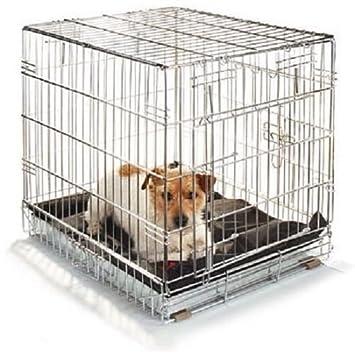Transportín Caseta para perro gato galvanizado plegable para coche 49 x 33 x 41 H M: Amazon.es: Jardín