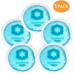 Round Reusable Gel Ice Packs With Cloth Backing