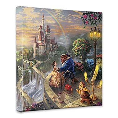 Thomas Kinkade Beauty and the Beast Falling in Love 14x14 Canvas Wrap