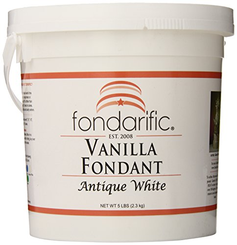 (Fondarific Vanilla Antique White Fondant, 5-Pounds )
