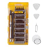 MPLUS 64 Piece Screwdriver Set with 56 Bit Magnetic Screwdriver Kit Electronics Repair Tool Kit for iPhone, Tablet, MacBook, Xbox, Cell phone, PC, Game Console.