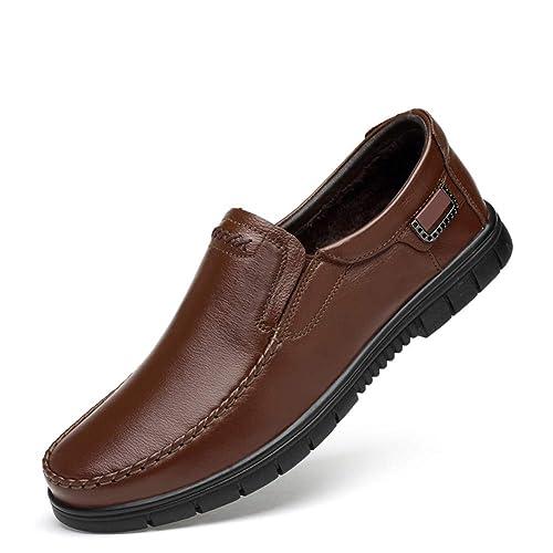 WOJIAO Zapatillas de Conducción Para Hombres en Los Zapatos Mocasines Cómodos y Respirables en Los Pisos