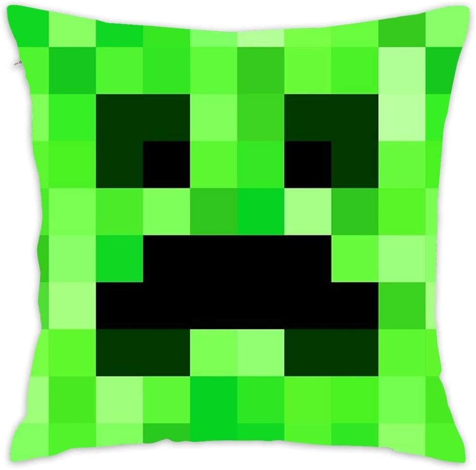creeper minecraft face Pillow Case size