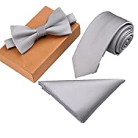 Father's Day Homme Skinny Tie & Bow Tie & Pocket Square Set
