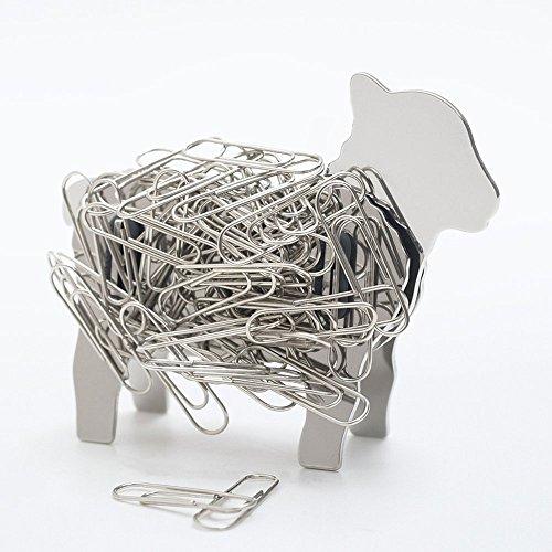 Lamb Sheep Design Stainless Steel Metal Magnetic DIY Binder Paper Clip Holder (Design Magnetic Clip)