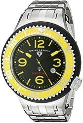 Swiss Legend Men's 21819P-11-YB Neptune Analog Display Swiss Quartz Silver Watch