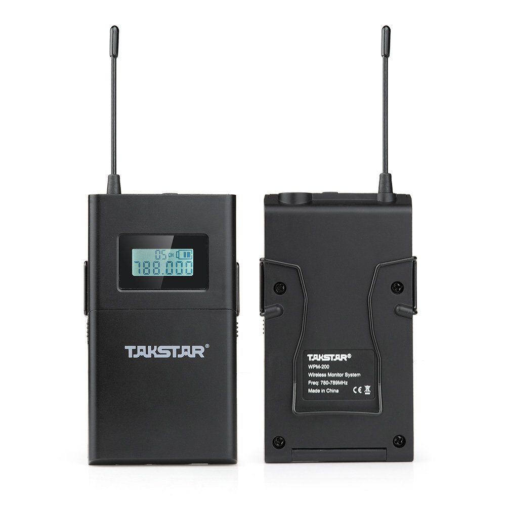 Takstar WPM-200 In Ear Stage UHF Wireless Monitor System for studio recording/on-stage monitoring (1 transmitter and 1 receiver) by TAKSTAR (Image #4)