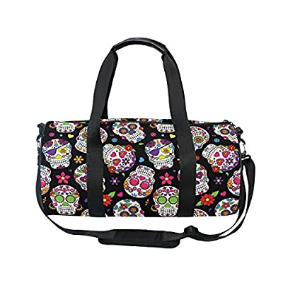 Cooper girl Cute Emoji Skull Duffels Bag Travel Sport Gym Bag 30%OFF