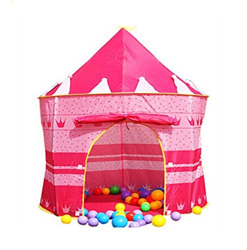 Princess Castle Fairy House Girls Pink Play Tent by Mallya