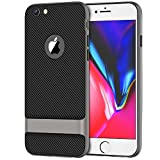 6 plus carbon case - JETech Case for Apple iPhone 6s Plus and iPhone 6 Plus, Slim Protective Cover with Shock-Absorption, Carbon Fiber Design, Grey