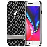 6 plus carbon case - JETech Case for Apple iPhone 6s Plus iPhone 6 Plus, Slim Protective Cover with Shock-Absorption, Carbon Fiber Design, Grey