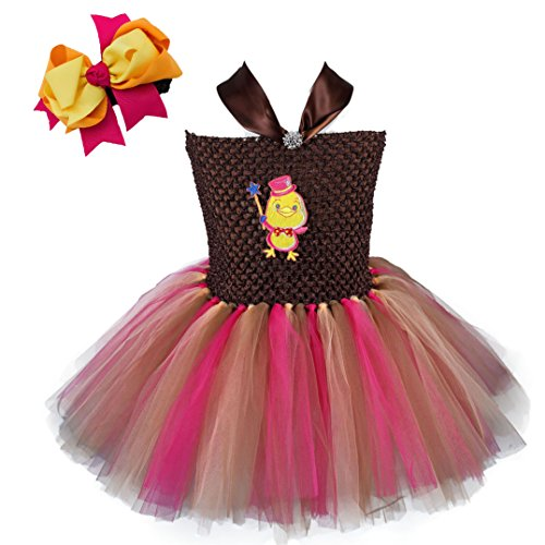 [Tutu Dreams Easter Princess Chick Costumes for Girls (4 for 4-5 Years, Hot Pink mix)] (Indian And Pilgrim Costumes)