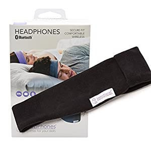 SleepPhones Wireless | Bluetooth Headphones | Ultra Thin Speakers | Lightweight & Comfortable Headband | Best for Insomnia | Includes Micro USB for Recharging | Midnight Black - Fleece Fabric