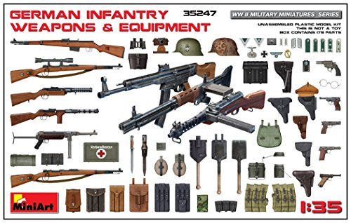35 German Infantry Weapons - Miniart 1:35 German Infantry Weapons & Equipment 35247