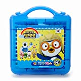 PORORO Character 24 Colors Crayon Non-Toxic Oil Pastel Crayon with Case Art Tools, Drawing Supplies, School Art Supplies, Great for Artists 2.9 Inch (Blue)