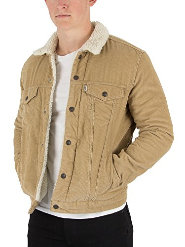 Levi's Men's Type 3 Sherpa Trucker Jacket, Beige, Large