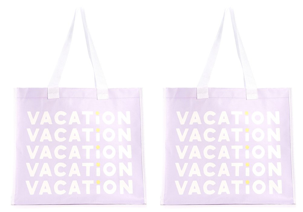 ban. Do I Want It All再利用可能なショッピングトート B01C6C0FLI  Vacation & Vacation