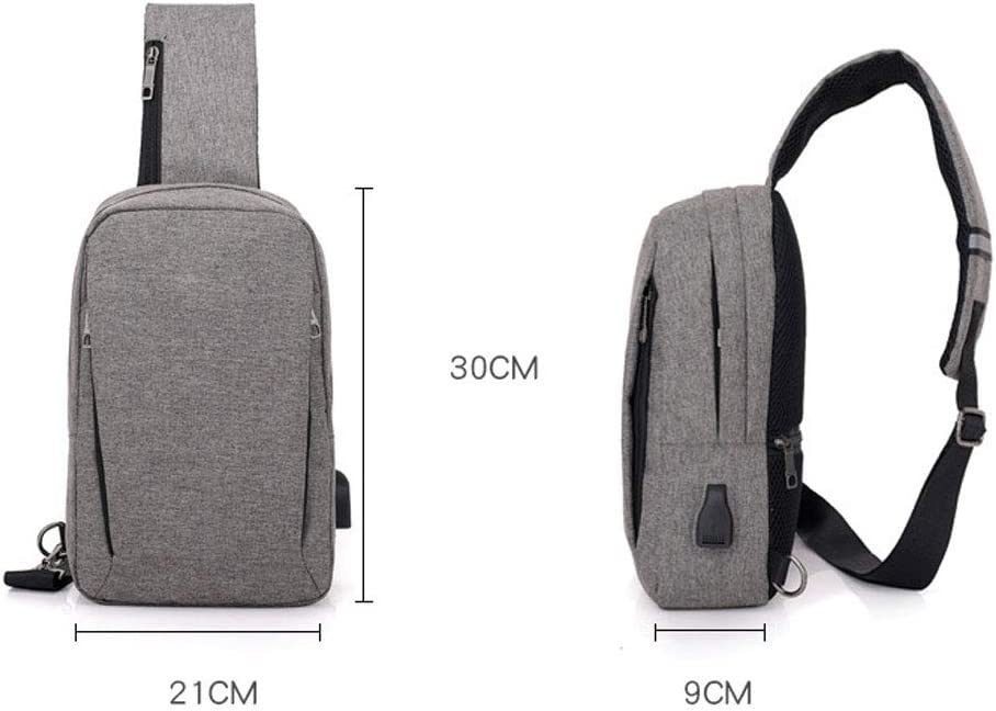 Color : Black Xiao Jian Travel Leisure Small Backpack Smart with USB Charging Single Piece Men Blue Black Gray Backpack