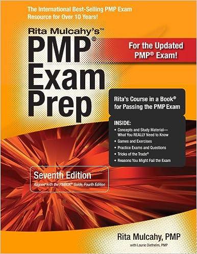 Rita mulcahys pmp exam prep ritas course in a book for passing rita mulcahys pmp exam prep ritas course in a book for passing the pmp exam seventh edition fandeluxe Gallery