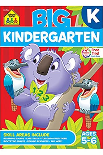 Amazon.com: BIG Kindergarten Workbook (9780887431463): School Zone ...