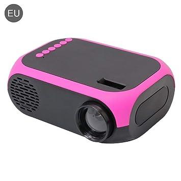 Proyector Portátil 800 Lúmenes Mini Proyector de Vídeo HD LED Vida ...