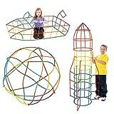 Millya 420PCS DIY Interlocking Building Construction Toy Set for Kids Plastic Engineering Building Blocks Stick