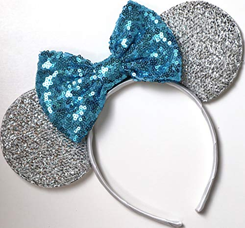 Cinderella Mickey Ears, Cinderella Minnie Ears, Cinderella Ears, Blue Mickey Ears, Elsa Mickey Ears,Silver Mickey Mouse Ears, Blue Minnie Mouse Ears,Frozen Minnie ears -