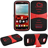 For Alcatel Onetouch Pop Icon Case Rugged Heavy Duty Armo Cover Red Stand A564c 7040