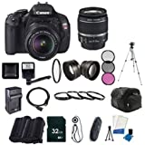 Canon EOS Rebel T3i Digital SLR Camera with EF-S 18-55mm f/3.5-5.6 IS Lens + LP-E8 Replacement Li-on Battery + Rapid Tr