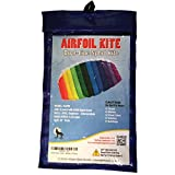 AIRFOIL STUNT SPORT KITE Dual-Line with Strings, Handles, Carry Bag, Winder, FREE Flying Tips eBook, Easy Assembly, Rainbow Color by Moon Glow Sports