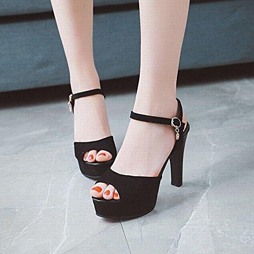 Con Di Neri Alla Sandali Donna Alto Shoes Moda Mee Piattaforma Tacco Da qE6xH