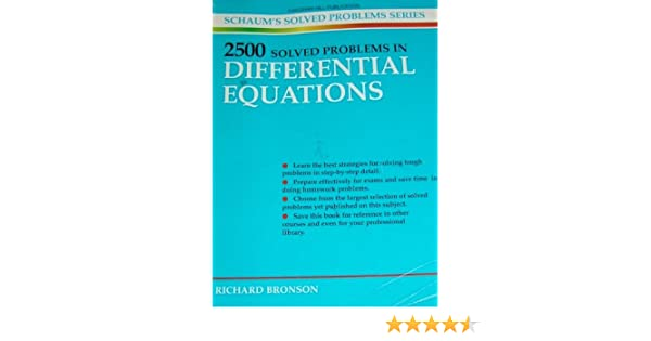 2500 Solved Problems in Differential Equations (Schaum\'s Solved ...