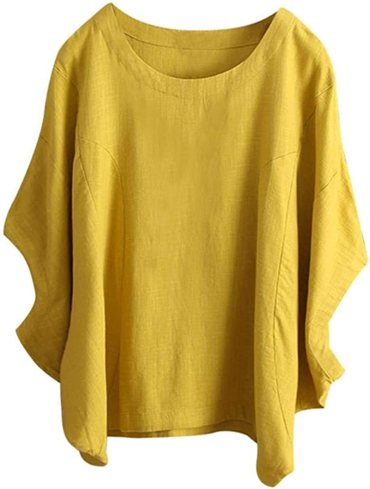Forthery Womens Newest Loose Casual Short Sleeve Tops T-Shirt Blouse Clearance Sale