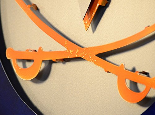 Gear New University of Virginia Crest 3D Vintage Metal College Man Cave Art, Large, Orange/White/Blue by Gear New (Image #7)