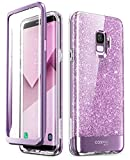 Samsung Galaxy S9 Case, [Built-in Screen Protector] i-Blason [Cosmo] Full-Body Glitter Sparkle Bumper Protective Case for Galaxy S9 (2018 Release) (Purple)